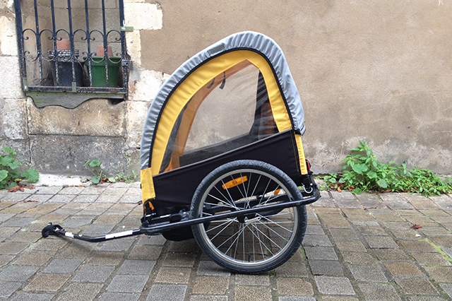 Bike trailer for kids (45kg supported)